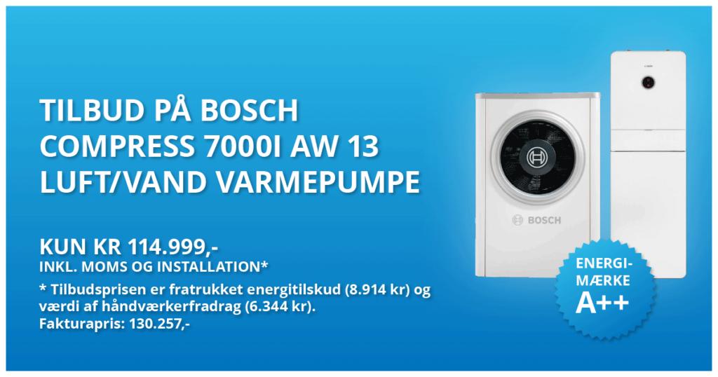 bosch compress 7000I aw 13 luft vand varmepumpe