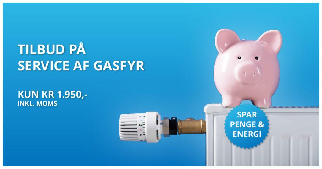 tilbud på service af gasfyr